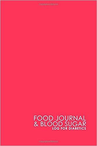 food journal blood sugar log for diabetics blood glucose log book