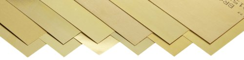 260 Brass Sheet, Unpolished (Mill) Finish, Half Hard Temper, 0.001-0.015