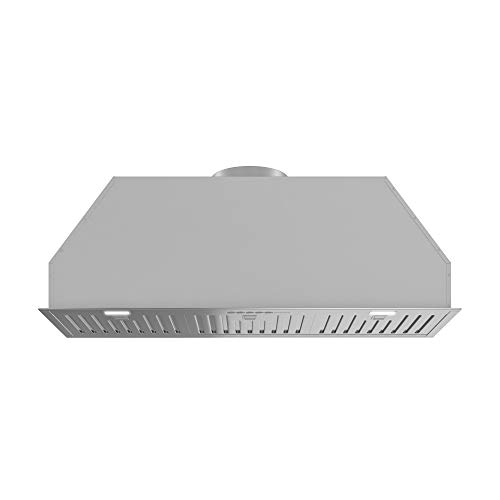 Futuro Futuro In Under-Cabinet Range Hood 32 940-CFM Insert-Liner Baffle Wall Mount Stainless Steel Vent Hood Contremorary Modern Italian Design Remote Control, LED, Ultra-Quiet, with Blower