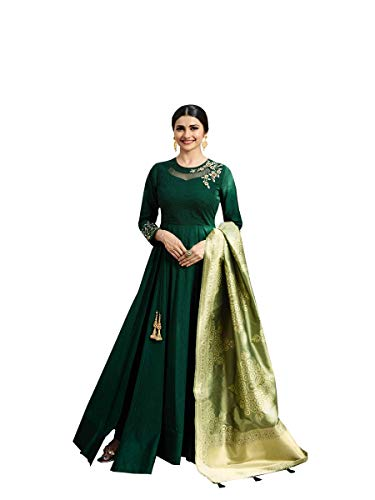 ziya Readymade Wedding Collection Indian Pakistani Anarkali Bollywood Suit Tumba (Green, S-38)