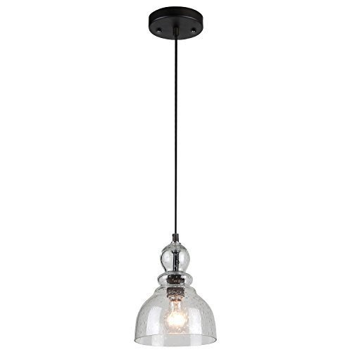 1 Fixture Pendant - Westinghouse 6100800 One-Light Indoor Mini Pendant, Oil Rubbed Bronze Finish with Clear Seeded Glass