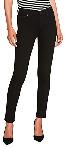 Banana Republic Womens FadeResist Mid Rise Skinny Leg Jeans Black (28W US:6)