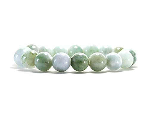 - Karatgem Jewelry Jadeite Jade Stretch Bracelet Beads 14mm Light Green Color (14mm x 15 Beads)