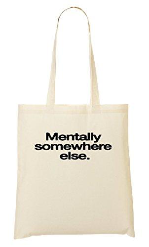 CP Mentally Somewhere Else Bolso De Mano Bolsa De La Compra