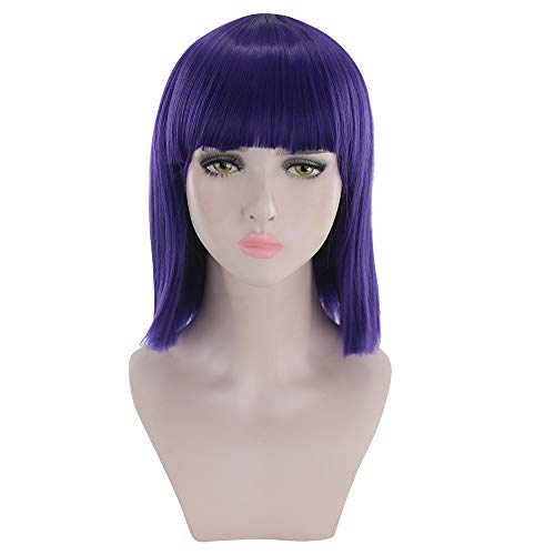 Anboo Short Bob Wig Party Custome Daily Synthetic Wigs Short Straight Natural Resistant Synthetic Hair Cosplay Wigs