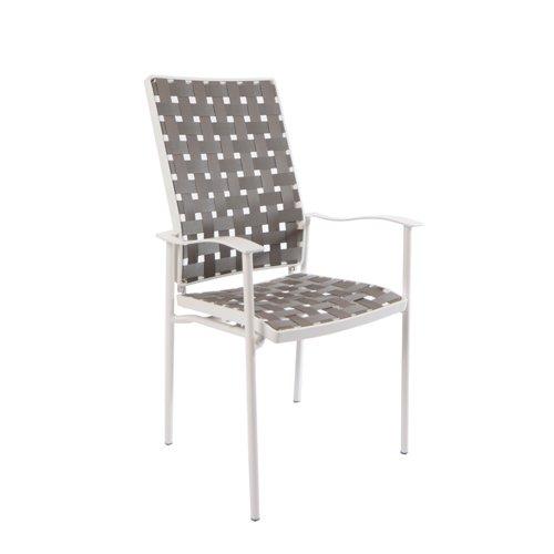 Fischer Möbel Sessel, Nizza Hochlehner, creme/weiß, 63,5 x 57 x 105 cm, 1550-44