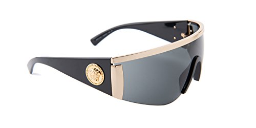 Versace Sunglasses Gold/Grey Metal - Non-Polarized - 40mm