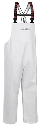Grundéns Shoreman Fishing Bib Pants, White - X-Small