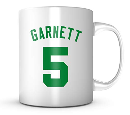 Kevin Garnett #5 Mug - Jersey Number Green/White Coffee Cup