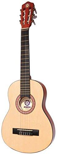 Kinder-Gitarre (1/4-Größe) inklusive Instrument/Akkord-Karten/Sticker/Transport-Case/Stimmpfeife