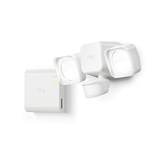 Introducing Ring Smart Lighting -  Floodlight, Battery - White (Starter ()