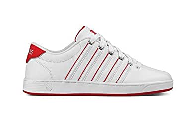 K-Swiss White & Red Fashion Sneakers For Men