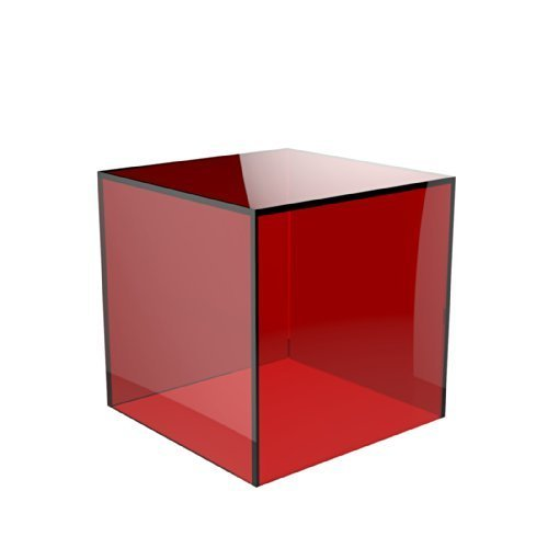 Acrylic Cube Display Stand Square 5 Sided Box Perspex Tray Retail Shop Holder (100mm x 100mm x 100mm, Clear) Displaypro