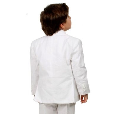 Johnnie Lene JL5026 WHITE Cotton//Linen Boys Summer Suit From Baby to Teen 4T, White