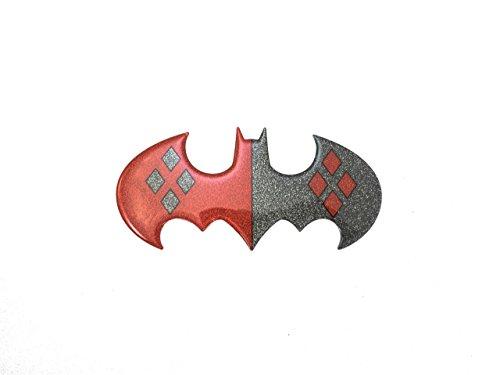 DC Comics GL BAT HQLOGO DC Comic Glitter Harley Batman Logo Large size Window Sticker Decal at Gotham City Store
