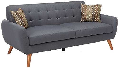 Major-Q Modern Tufted Ash Black Finish 2-Pcs Set with Love Seat and Sofa, Pxf6913 - Living Ash Room Loveseat