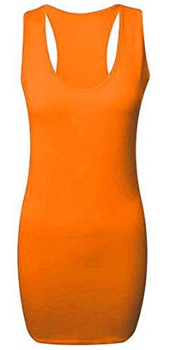 Camiseta Nadadora Top Para Naranja De Mangas Gimnasio Con Espalda Sin SqwpxSr1