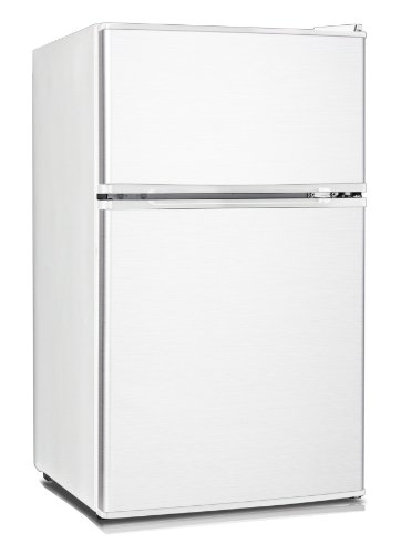Midea HD-113F Full-Size Double Reversible Door Refrigerator and Freezer, 3.1 Cubic Feet, White