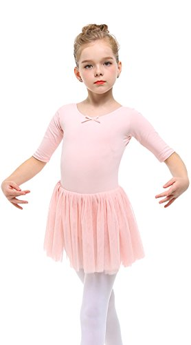 STELLE Toddler/Girls Cute Tutu Dress Leotard for Dance, Gymnastics and Ballet(XS, Ballet Pink) - Leotard Tutu