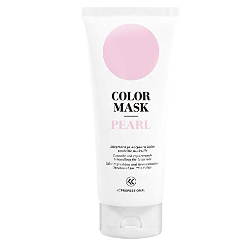 Color Mask Pearl – Toning Conditioner for Pearl Blonde Hair – Purple Conditioner for Brassy Hair – Reconstructive Treatment for Blonde Color Treated Hair 6.76 oz – KC Professional