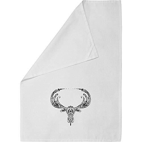 - Azeeda 'Moose Motif' Cotton Tea Towel / Dish Cloth (TW00002792)