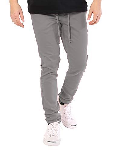 JD Apparel Men's Skinny Fit Harem Joggers Medium Light Grey -
