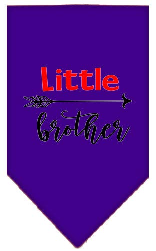 (Mirage Pet Products Little Brother Screen Print Bandana Purple Small)