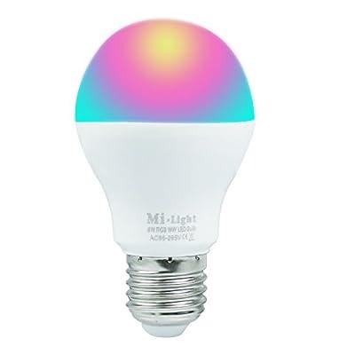 Tanbaby Led Bulbs Dimmable 6W Wireless 2.4G RGBWW 16 Million Color Temperature Smart Mi Light LED Spotlight Bulb