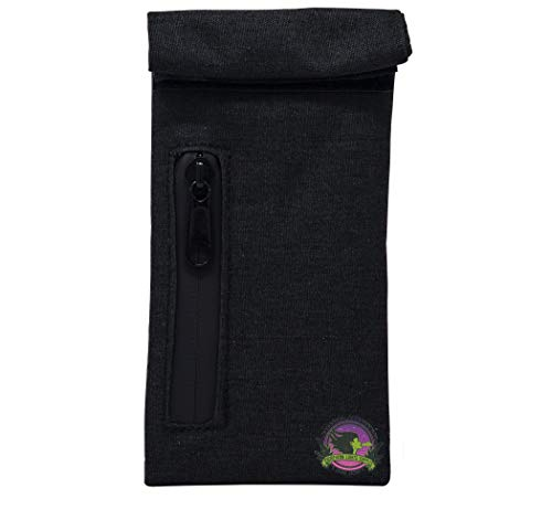 NLS Premium Pocket Sized Smell Proof Bag with an Activated Charcoal Liner, 3.5x6 inches for Store Herbs & Consumable Goods and Keeps Them Fresh for Months (Holds up to 1/4 oz) (0.25 Ounce Pocket)