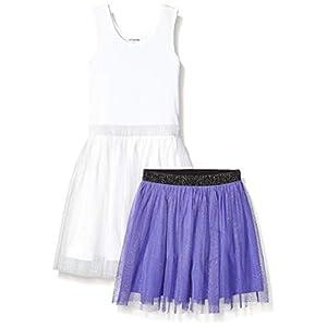 Best Epic Trends 31r6crwLRAL._SS300_ Amazon Brand - Spotted Zebra Girls' Knit Sleeveless Tutu Tank Dress and Skirt Set