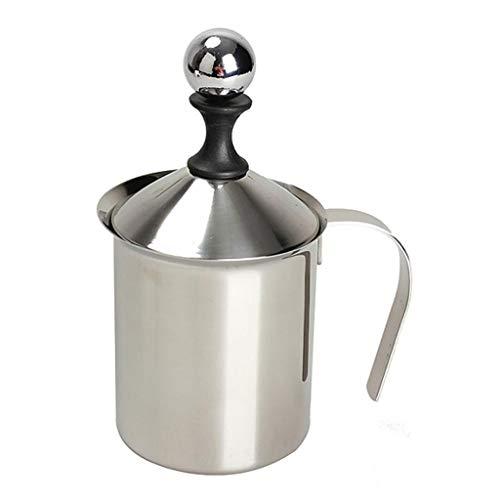 (Stainless Steel Milk Frother Double Milk Creamer Milk Foam Cappuccino Pump Coffee Froth Coffee/Milk Pot Kitchen Tool (Size : 800ml))