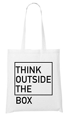 Think Outside The Box Bag White