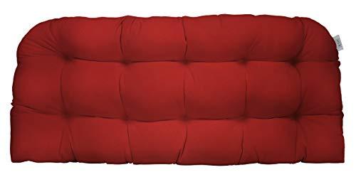 RSH Décor Sunbrella Indoor Outdoor Tufted Patio Bench Loveseat Settee Glider Cushion Pillow Wate ...