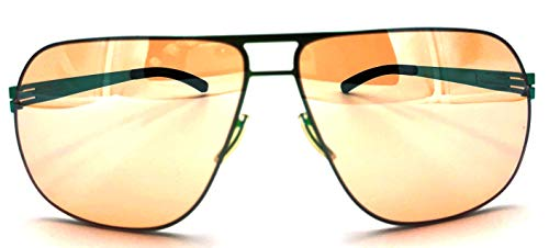 ic! berlin Golf Collection X11 Krumme Lanke Electric-Green Photochromic Yellow Lenses