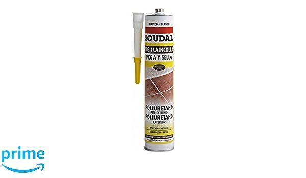 Soudal M123118 - Masilla poliuretano pega y sella 300 ml blanco: Amazon.es: Bricolaje y herramientas
