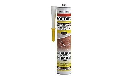 Soudal M123118 - Masilla poliuretano pega y sella 300 ml blanco