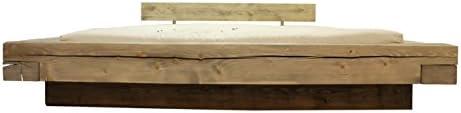 Futon On Line Cama Chalet Brus Natural 160x200 cm