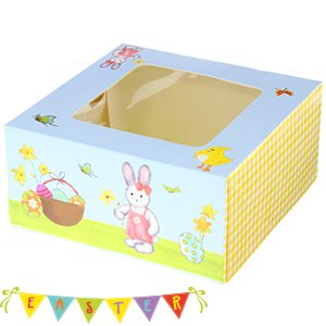 Bake it cup cake boxes retro easter design cupcake gift boxes 3 bake it cup cake boxes retro easter design cupcake gift boxes 3 per pack negle Images