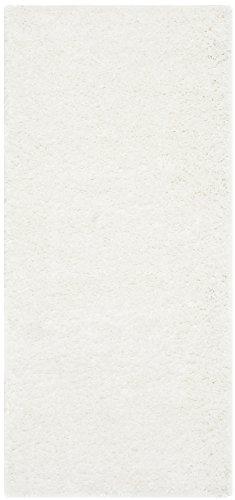 - Safavieh California Premium Shag Collection SG151-1010 White Runner (2'3