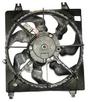 TYC 601000 Hyundai Santa FE Replacement Radiator Cooling Fan Assembly -