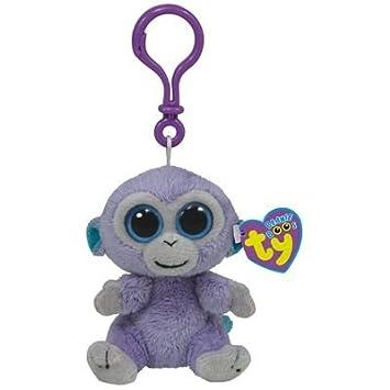 TY Blueberry-Clip Mono de juguete Violeta - Juguetes de peluche (Mono de juguete