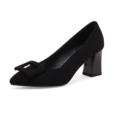 RTRY Zapatos De Mujer Tacones Comodidad Chiffon Polipiel Otoño Invierno Casual Parte &Amp; Traje De Noche Chunky Talón Rubor Rosa Negro Marrón 2A-2 3/4 Pulg. US8.5 / EU39 / UK6.5 / CN40