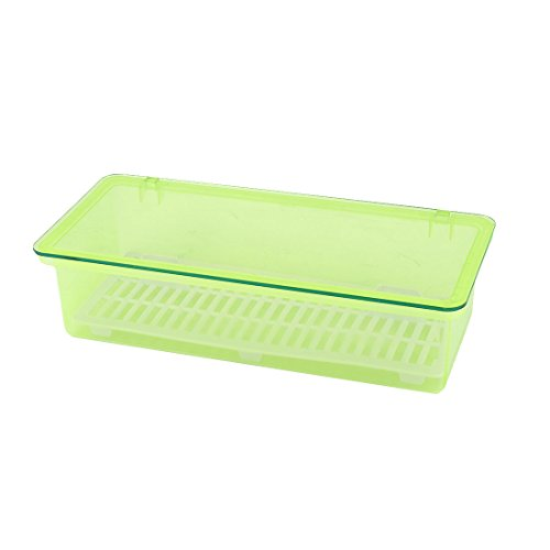 uxcell Plastic Household Kitchen Tableware Chopsticks Storage Box Case Container Green by uxcell