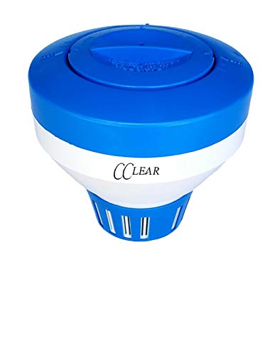 Cclear Pool Chlorine Floater, Chemical Floating Holder for Chlorine Tablets up to 3