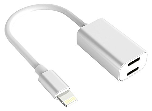 Buteny xi-182-cable Lightning Adapter for iPhone 7 / 7 Plus, Charge and Headphone Splitter Adapter for Lightning