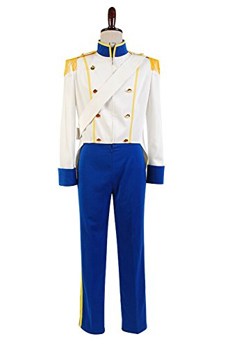 Sidnor The Little Mermaid 1989 Prince Eric Cosplay Costume Uniform Outfit Wedding Suit -