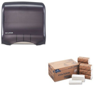 KITGEP24590SJMT1750TBKRD - Value Kit - Georgia Pacific Multifold Paper Towels (GEP24590) and San Jamar Ultrafold Towel Dispenser (SJMT1750TBKRD)