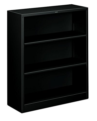 The HON Company HS42ABC.P Brigade Metal Bookcase with Three Shelves, 3-Shelf from HON