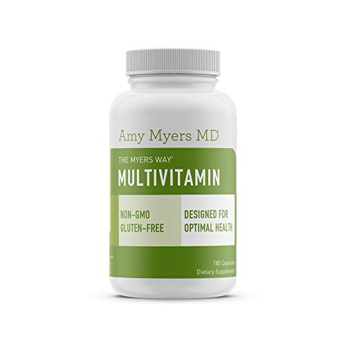 (The Myers Way® Multivitamin for Women and Men for Thyroid Support, Stress Relief, Immune Support - Activated B Vitamins, Zinc, Selenium, Iooine - Rich in Nutrients and Minerals, Gluten Free (180 Caps))