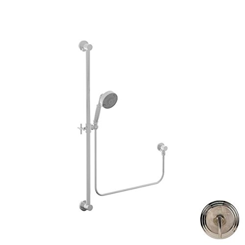 Newport Brass 280F/15 Contemporary 36-Inch Slide Bar Handshower Kit, Polished Nickel Brass Contemporary Handshower